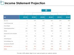 Income Statement Projection Ppt Powerpoint Presentation Layouts Designs
