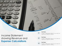 Income Statement Showing Revenue And Expense Calculations