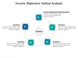 Income Statement Vertical Analysis Ppt Powerpoint Presentation Summary Visual Aids Cpb