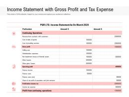 Income Statement With Gross Profit And Tax Expense
