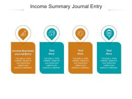 Income Summary Journal Entry Ppt Powerpoint Presentation Infographic Template Cpb