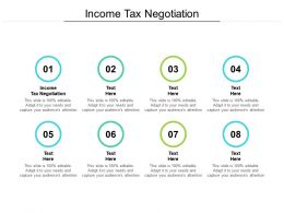 Income Tax Negotiation Ppt Powerpoint Presentation Infographic Cpb