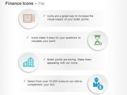 Income Tax Time And Money Bank Dollar User Ppt Icons Graphics