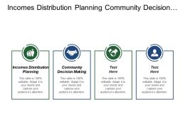 Incomes Distribution Planning Community Decision Making Restricted System