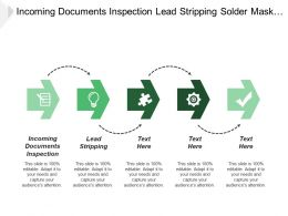 Incoming Documents Inspection Lead Stripping Solder Mask Printing