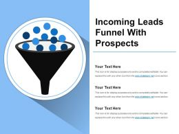 Incoming Leads Funnel With Prospects