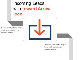 Incoming Leads With Inward Arrow Icon