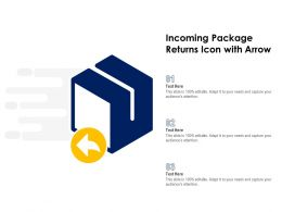 Incoming Package Returns Icon With Arrow