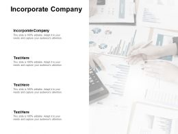 Incorporate Company Ppt Powerpoint Presentation Model Gallery Cpb
