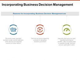 Incorporating Business Decision Management Process Ppt Powerpoint Presentation Portfolio