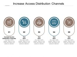 Increase Access Distribution Channels Ppt Powerpoint Presentation Model Templates Cpb
