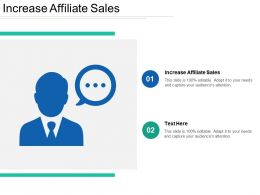 Increase Affiliate Sales Ppt Powerpoint Presentation Diagram Graph Charts Cpb