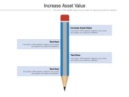 Increase Asset Value Ppt Powerpoint Presentation Infographics Format Ideas Cpb