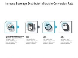 Increase Beverage Distributor Microsite Conversion Rate Ppt Powerpoint Presentation Summary Structure Cpb