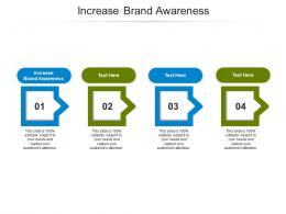 Increase Brand Awareness Ppt Powerpoint Presentation Styles Format Cpb