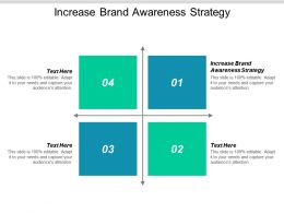 Increase Brand Awareness Strategy Ppt Powerpoint Presentation Professional Grid Cpb