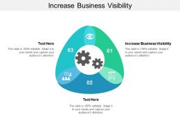 Increase Business Visibility Ppt Powerpoint Presentation Professional Microsoft Cpb