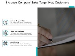 Increase Company Sales Target New Customers Sales Strategy Cpb