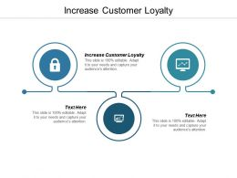 Increase Customer Loyalty Ppt Powerpoint Presentation Infographic Template Ideas Cpb