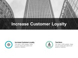 Increase Customer Loyalty Ppt Powerpoint Presentation Visual Aids Model Cpb