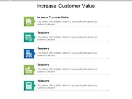 Increase Customer Value Ppt Powerpoint Presentation Portfolio Example Cpb