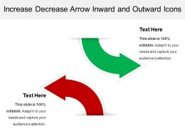 Increase Decrease Arrow Inward And Outward Icons