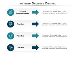 Increase Decrease Demand Ppt Powerpoint Presentation Samples Cpb