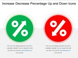 Increase Decrease Percentage Up And Down Icons