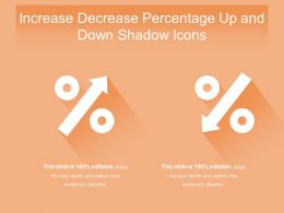 Increase Decrease Percentage Up And Down Shadow Icons