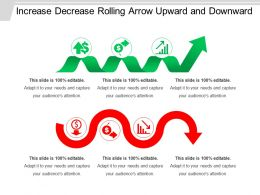 Increase Decrease Rolling Arrow Upward And Downward