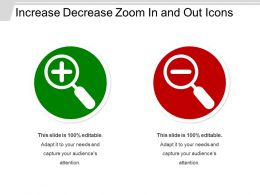 Increase Decrease Zoom In And Out Icons