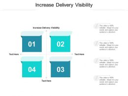 Increase Delivery Visibility Ppt Powerpoint Presentation Professional Design Ideas Cpb