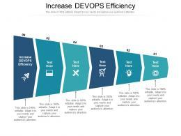 Increase DEVOPS Efficiency Ppt Powerpoint Presentation Gallery Aids Cpb