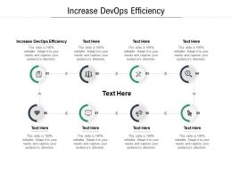 Increase DevOps Efficiency Ppt Powerpoint Presentation Slides Summary Cpb