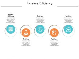 Increase Efficiency Ppt Powerpoint Presentation Professional Designs Cpb