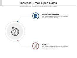 Increase Email Open Rates Ppt Powerpoint Presentation Outline Infographics Cpb