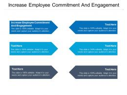 Increase Employee Commitment And Engagement Ppt Powerpoint Presentation Slides Cpb