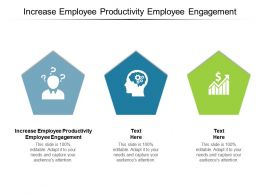 Increase Employee Productivity Employee Engagement Ppt Powerpoint Presentation Inspiration Aids Cpb