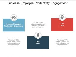 Increase Employee Productivity Engagement Ppt Powerpoint Presentation Ideas Templates Cpb