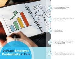Increase Employee Productivity In Firm