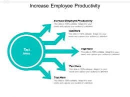 Increase Employee Productivity Ppt Powerpoint Presentation Ideas Grid Cpb