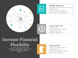 Increase Financial Flexibility Ppt Slides
