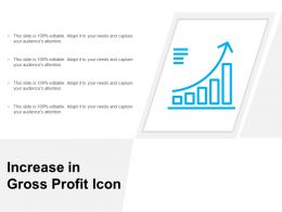 Increase In Gross Profit Icon