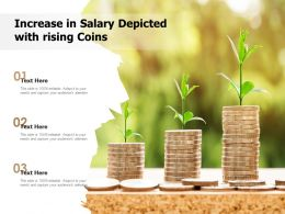 Increase In Salary Depicted With Rising Coins