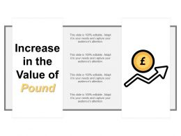 Increase In The Value Of Pound