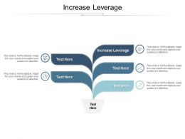 Increase Leverage Ppt Powerpoint Presentation File Summary Cpb