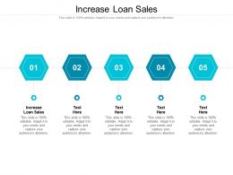Increase Loan Sales Ppt Powerpoint Presentation Styles Graphics Tutorials Cpb