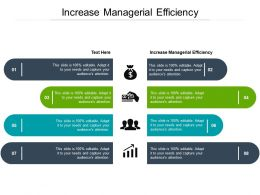 Increase Managerial Efficiency Ppt Powerpoint Presentation Slides Summary Cpb