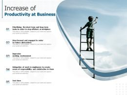 Increase Of Productivity At Business