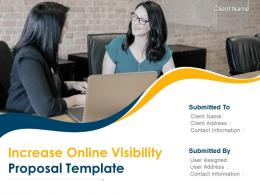 Increase Online Visibility Proposal Template Powerpoint Presentation Slides